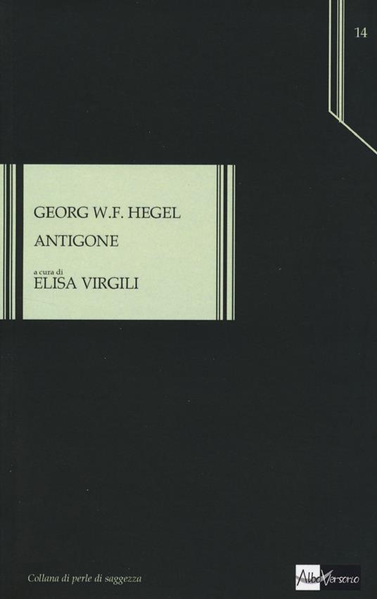 Antigone - Friedrich Hegel - copertina