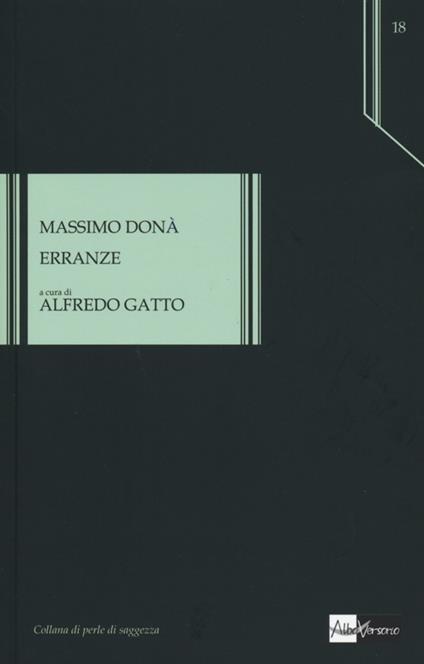 Erranze - Massimo Donà - copertina