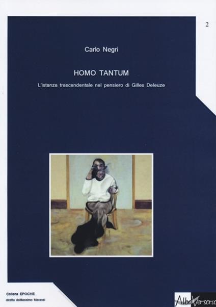 Homo tantum. L'istanza trascendentale nel pensiero di Gille Deleuze - Carlo Negri - copertina