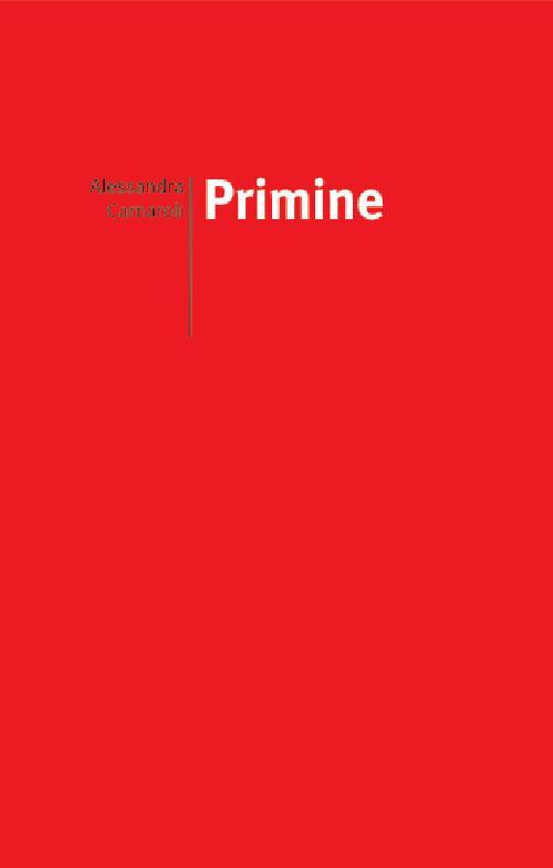 Primine - Alessandra Carnaroli - copertina