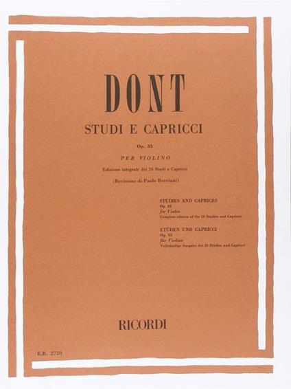 Studi e Capricci Op. 35. Violino. Paolo Borciani -  Jakob Dont - copertina