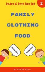 Learn Basic Spanish to English Words: Family . Clothing . Food