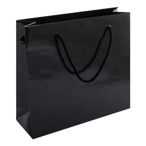 Shopper Carta Lucida 40+14x36 Cm Nero