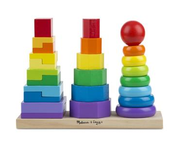 Melissa & Doug Geometric Stacker Toddler Toy - 2
