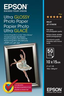 Epson Ultra Glossy Photo Paper - 10x15cm - 50 Fogli