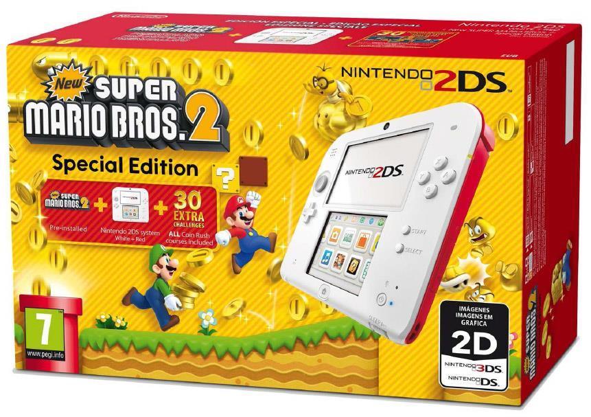 Nintendo 2DS Bianco   Rosso con New Super Mario Bros. 2 - gioco per ... 6cbf4ede9658