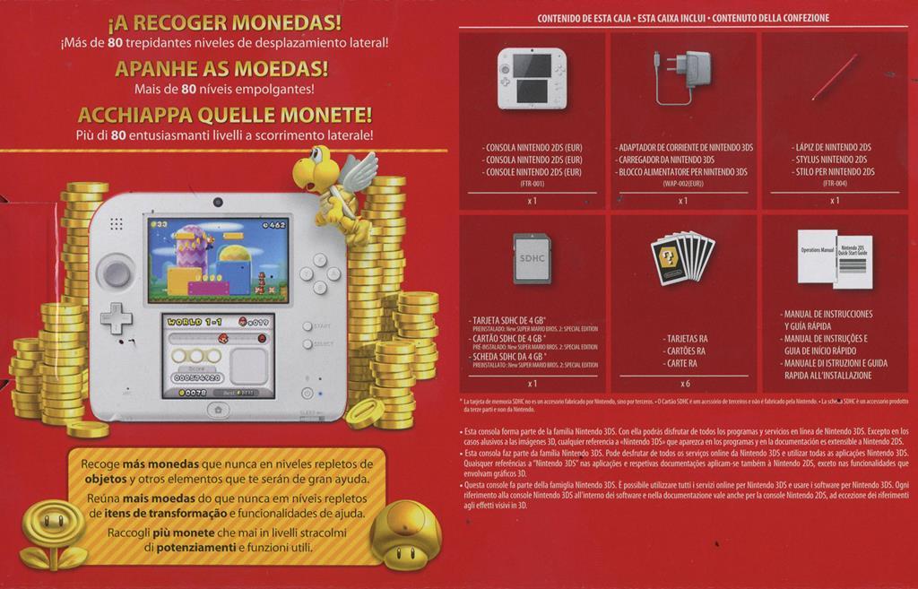 ca8e7df0d17 Nintendo 2DS Bianco & Rosso con New Super Mario Bros. 2 - gioco per ...