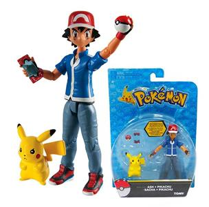 Action Figure Tomy Pokemon T18516 Pacchetto Ash & Pikachu
