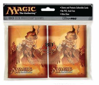ULTRA PRO Magic Proteggi carte standard pacchetto da 80 bustine Planar Chaos Akroma Angel of Fury - 3