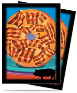 Ultra Pro Proteggi Carte Standard Pacchetto Da 50 Bustine 66Mm X 91Mm Novelty Food Bacon Donut 12/120 - 2