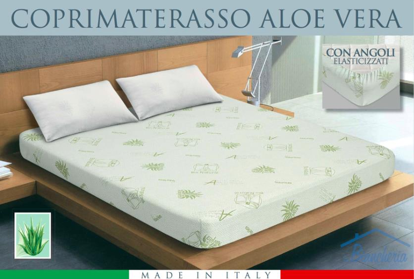 Coprimaterasso Traversa Aloe Vera Bio Natural 1 Piazza E Mezza Tex Family Casa E Cucina Ibs
