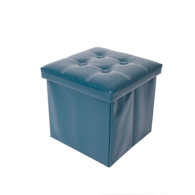 Mobili Rebecca® Pouf Contenitore Puff Sgabello Cubo Apribile Verde ...