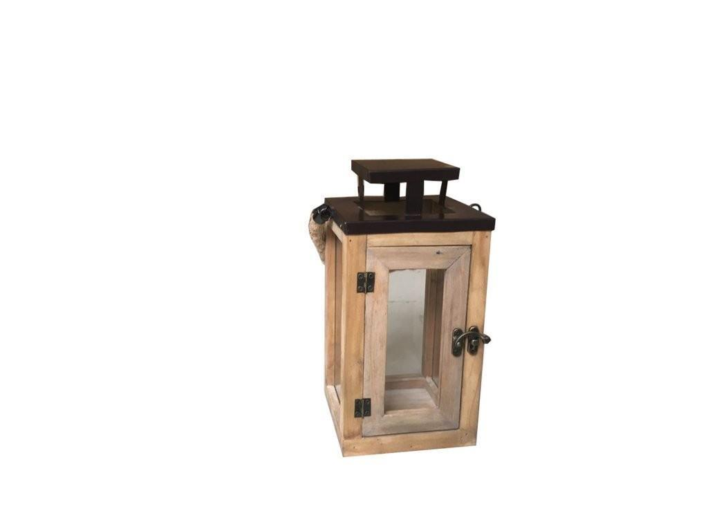 Portacandele Da Giardino : Mobili rebecca portacandela lanterna vintage legno metallo da