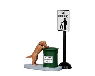 Lemax Cane Curioso - No Littering, Set Of 2 Cod 14364 Village Presepe