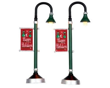 Lemax Lampioni Municipali - Municipal Street Lamp Set Of 2 Cod 64065 Village