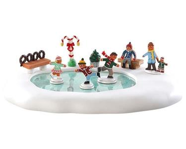 Gingerbread Skating Pond, B/O (4.5V) Cod. 84352