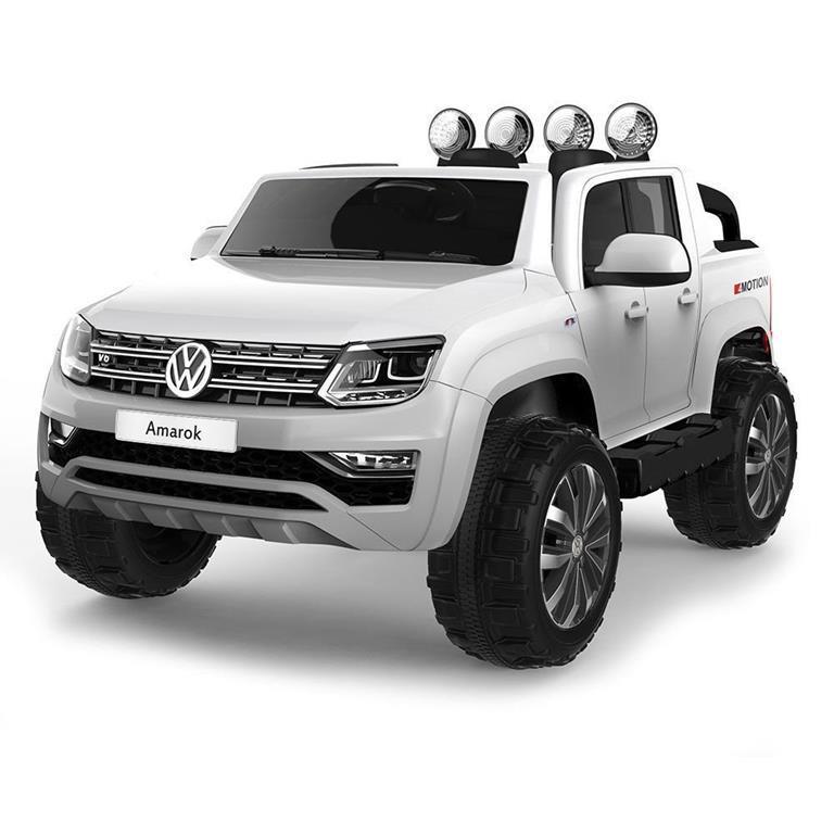 Auto Macchina Elettrica per Bambini Volkswagen Amarock 12V Bianco e Telecomando