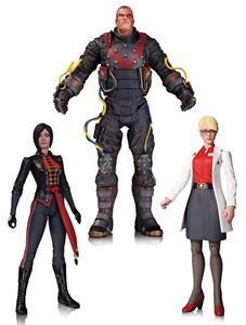 Batman Arkham Origins 3 Pack Harleen Shiva Electrocutioner Figure