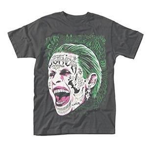 T-Shirt Unisex Suicide Squad. Joker Tattooed Face - 2