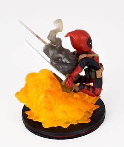 Marvel Comics Q Fig Deadpool Red Mini Figure Exclusive Nuova - 2