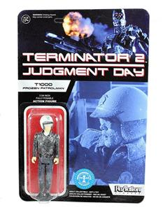 Funko ReAction Series. Terminator 2. T 1000 in Patrolman Frozen. Vinyl Figure 10cm - 3