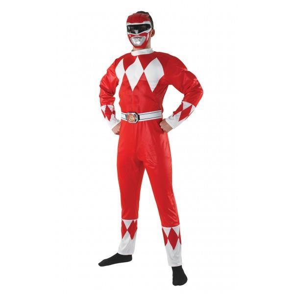 49abd8416cc5 Costume Power Ranger Red Rosso Originale Taglia Unica - Rubies ...