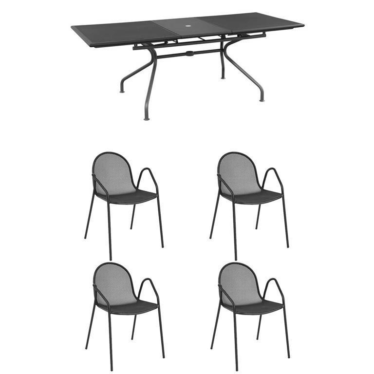 Offerte Tavoli Da Giardino In Ferro.Offerta Set Da Giardino Con Tavolo Athena Allungabile 4