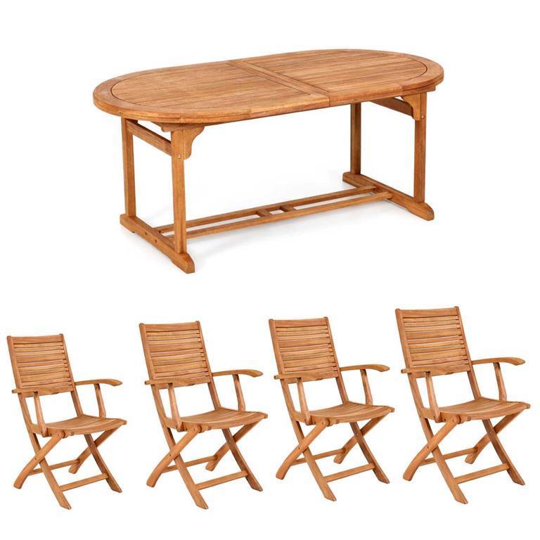 Offerte Tavoli Da Pranzo.Offerta Set Da Pranzo Tavolo All 150 200x90 Cm Texas 4 Poltrone