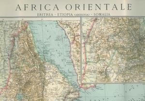 Cartina Dell Africa Orientale.Cartina Carta Dell Africa Orientale Eritrea Etiopia Abissinia Somalia