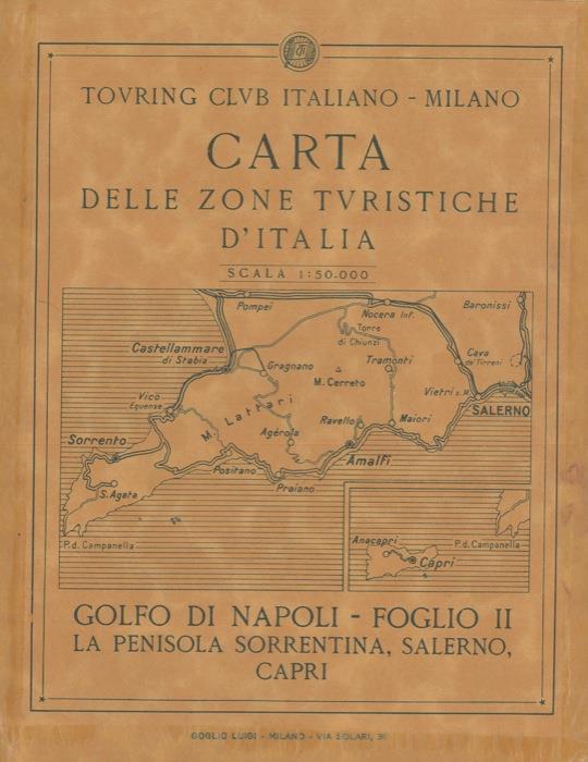 Provincia Di Napoli Cartina.Cartina Golfo Di Napoli F Ii La Penisola Sorrentina Salerno Capri Carta Delle Zone Turistiche D Italia Libro Usato Nd Ibs