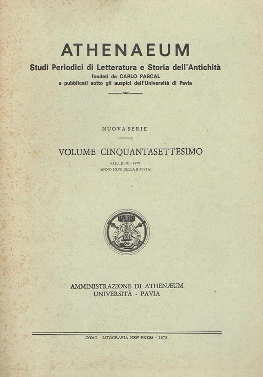 Athenaeum cover
