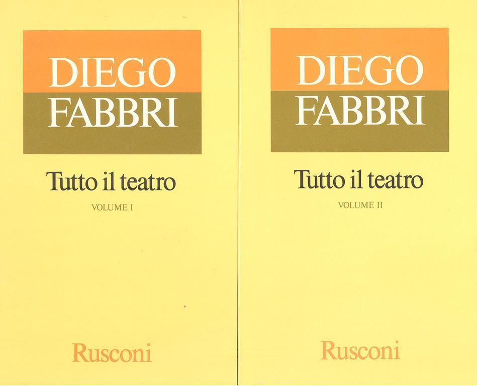 Tutto il teatro - Diego Fabbri - Libro - Rusconi - | IBS