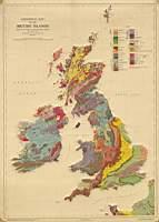 Geological map of the British Islands based on the work of the geological Survey. 4th Edizion 1957 - J. William Pugh - copertina