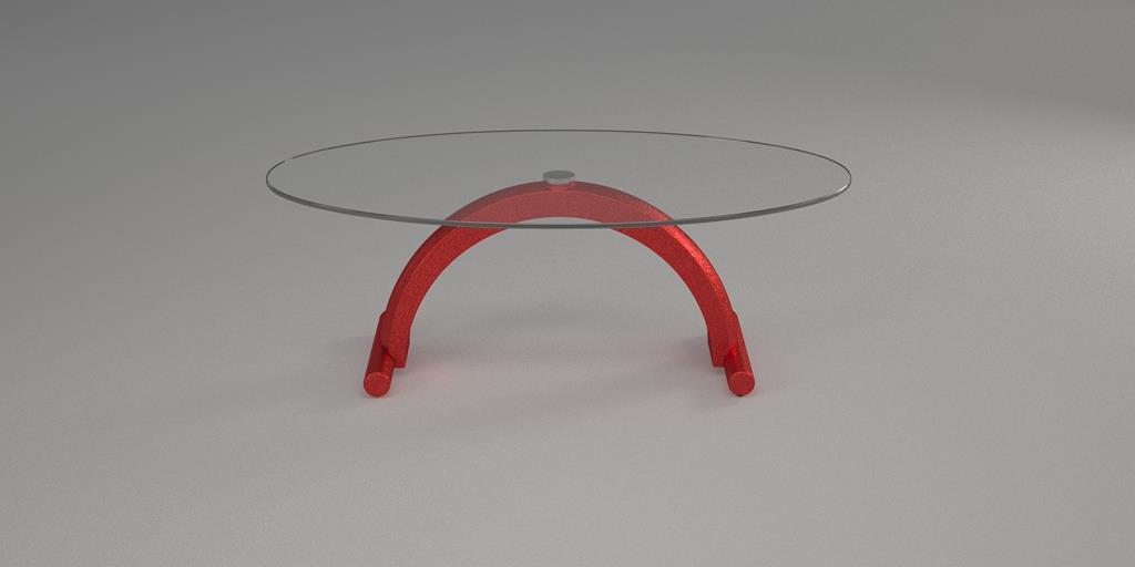 Tavolino Salotto Rosso.Tavolino Da Salotto Icaro Rosso