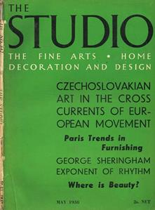 The studio. The fine art. Home decoration and design. Volume 115 number 542. May 1938 - copertina