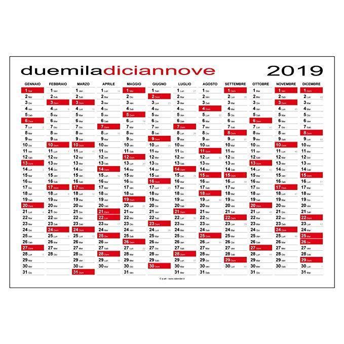 Calendario 2019 planner planning per ufficio casa lavoro 84 x 60 cm - Calendari da tavolo con foto ...