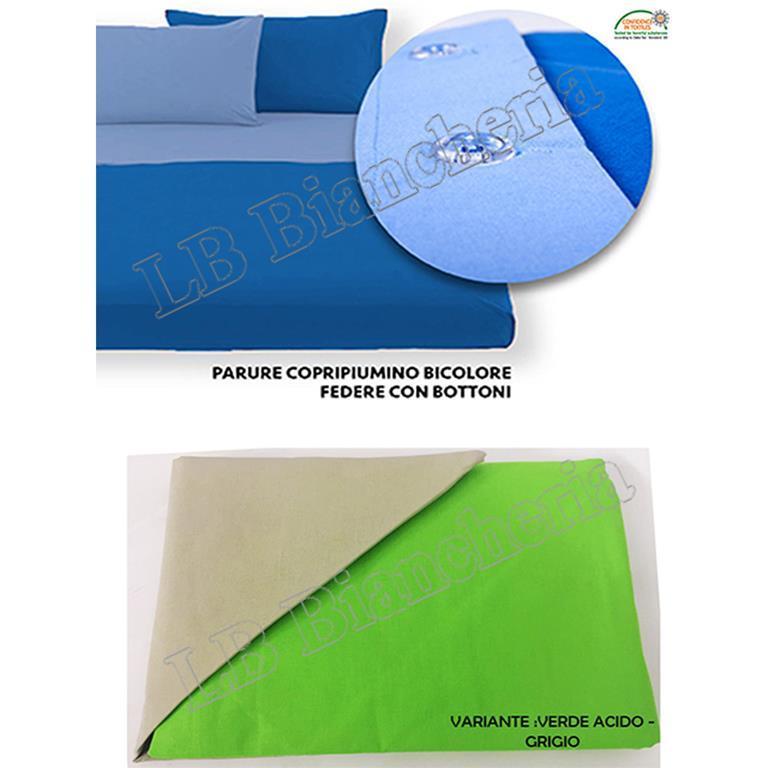 Copripiumino Verde Acido.Parure Copripiumino 1 Piazza Letto Singolo Bicolore Friends Verde