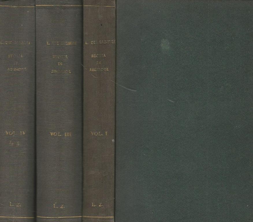 Storia Di Abissinia Vol I Iii Iv Luca Dei Sabelli Libro Usato Nuove Edizioni Romane Ibs