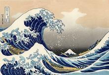 Stampa Giapponese Hokusai, La Grande Onda Stampa Con Telaio 150X100 Cm