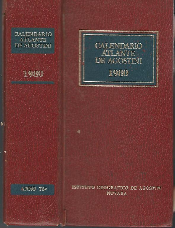 Calendario Anno 1980.Calendario Atlante De Agostini 1980 Libro Istituto Geografico De Agostini Ibs