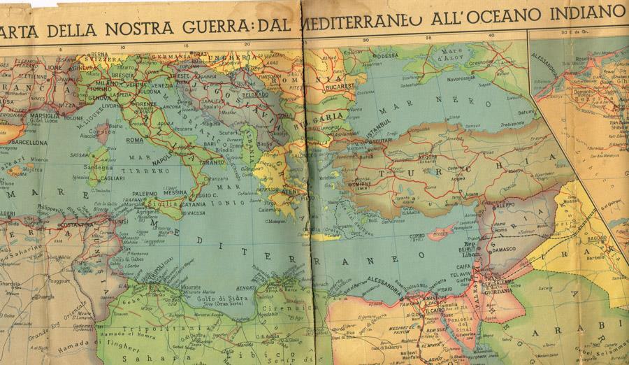 Mediterraneo Cartina Geografica.Carta Della Nostra Guerra Dal Mediterraneo All Oceano Indiano Libro Usato Istituto Geografico De Agostini Ibs