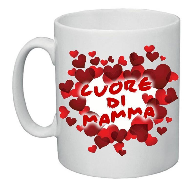 Tazza Mug 8x10 Cm Scritta Cuore Di Mamma Festa Idea Regalo