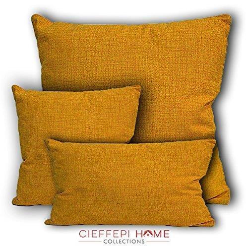 Cuscino Arredo (50x50 cm giallo scuro) Cieffepi home collections