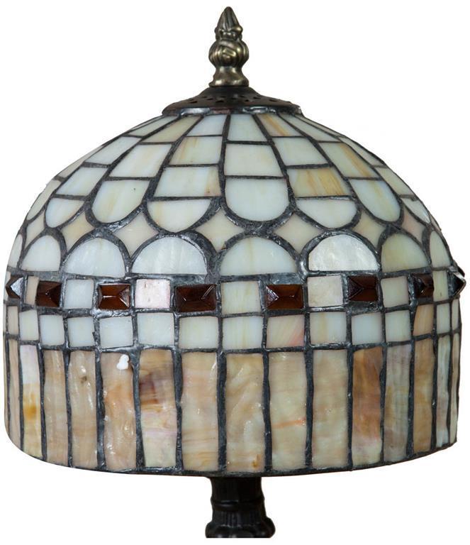 Lampada Tiffany stile Liberty in vetro e ottone L20xPR20xH36 cm ...