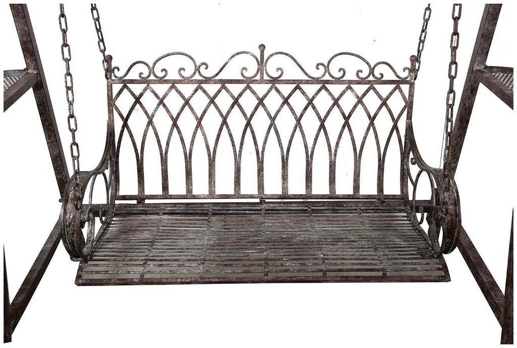 Dondolo Da Giardino In Ferro Battuto : Dondolo a due posti in ferro battuto finitura ruggine anticata