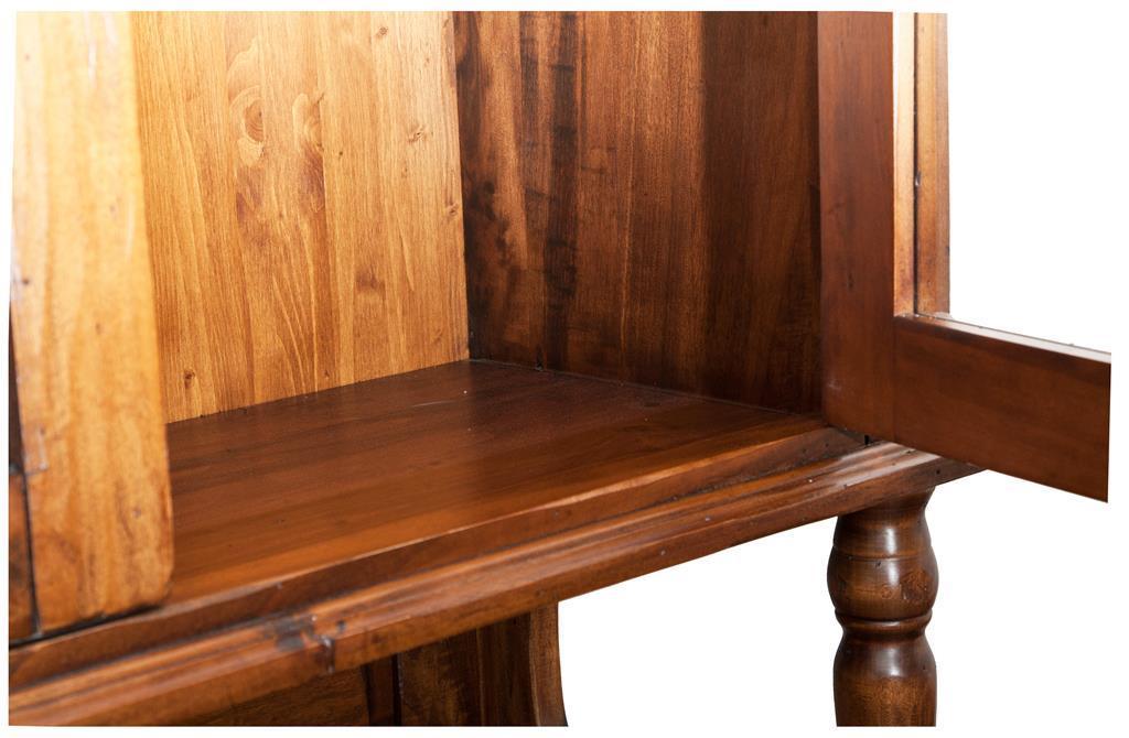 Credenza Da Cucina Legno Noce : Vetrina credenza in legno massello di tiglio finitura noce
