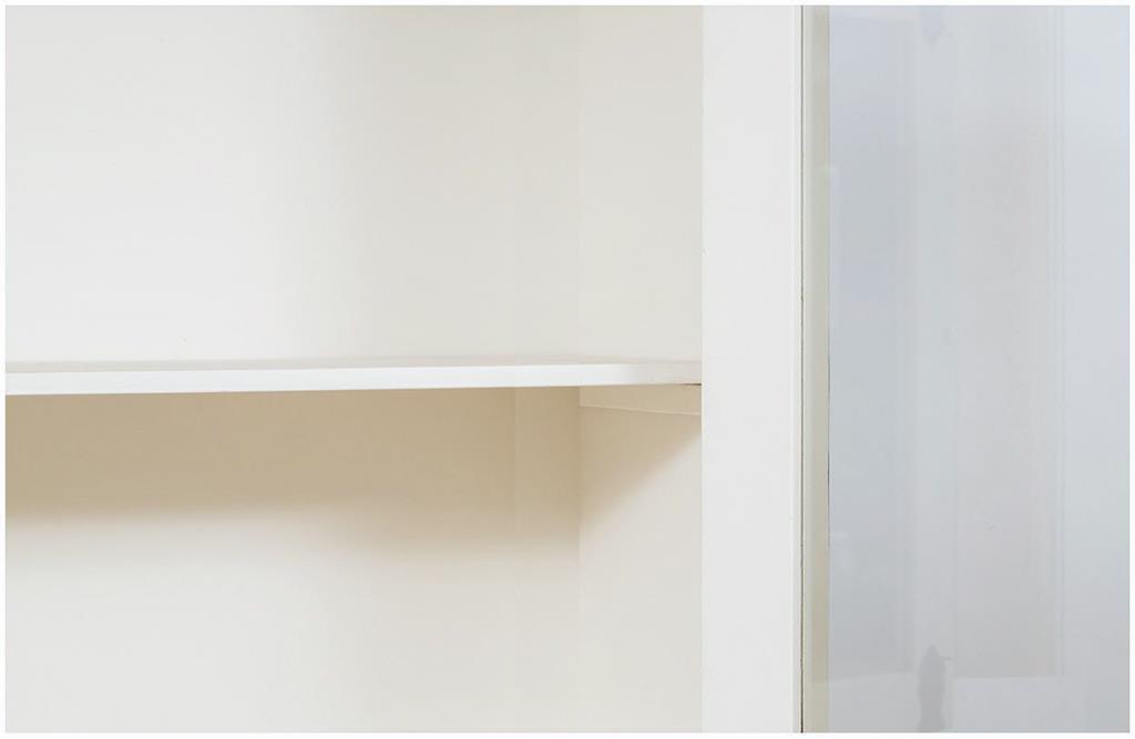 Credenza Da Cucina Bianca : Vetrina credenza in legno massello di tiglio finitura bianca