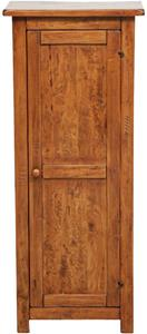 Stipetto Country in legno massello di tiglio finitura noce L40xPR25xH98 cm. Made in Italy