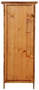 Stipetto Country in legno massello di tiglio finitura noce L40xPR25xH98 cm. Made in Italy - 2