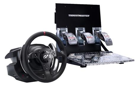 Thrustmaster T500 RS GT Sterzo + Pedali PC, Playstation 3 Nero - 2